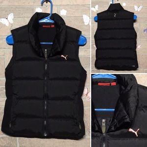 PUMA - Sz S - down vest warm puffy chic sporty